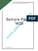Sample Paper MCB