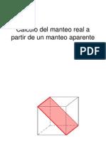 Calculo Del Manteo Real