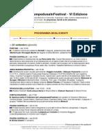 Programma LampedusaInFestival 2014 - VI Edizione