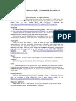 Normas Para Apresentação de Trabalhos Acadêmicos_2014