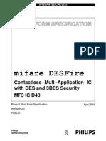 Mifare DesFire IC Datasheet