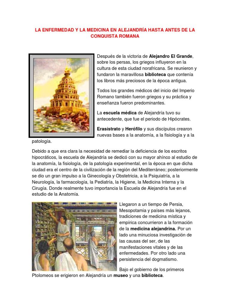LA ENFERMEDAD Y LA MEDICINA EN ALEJANDRÍA HASTA ANTES DE LA ...