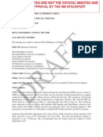 NM Spaceport Board Minutes - 7/1/14 Draft