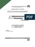 Administración Financiera Guía Didáctica