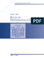 NY Rules of Prof Conduct