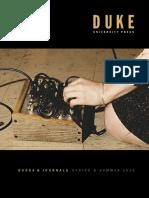 Duke University Press Spring 2010 Catalog