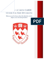 Faculty of Arts OASIS Guide for New Students