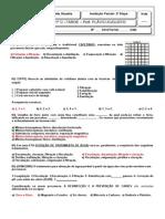 Avaliação Parcial de Química 1ano Tarde 2 Bimestre - Cópia2