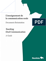l'Enseignement de La Communication Oral
