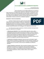 Suplementos Nutricionales - M.sc Lourdes Mayol