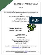 Celebrate St. Patrick's Day for Democratic Senatorial Campaign Committee