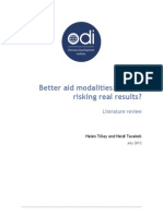 2012-Better Aid Modalities- Are We Risking Real Results