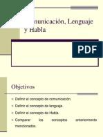 Clase 3 - Comunicación, Lenguaje y Habla