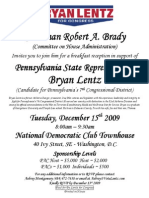 Breakfast Reception for Bryan Lentz
