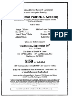 Reception for Patrick Kennedy