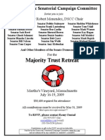 Majority Trust Retreat for Democratic Senatorial Campaign Committee