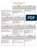 Calendario Academico UFSCar 2014