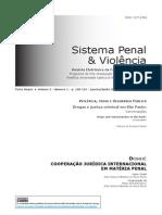 Drogas e Justiça Criminal Em São Paulo