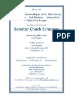 "Reception for Charles Ellis ""Chuck"" Schumer"