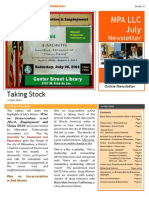 Newsletter 3 - August 10, 2014 New