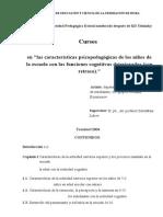 Características Psicopedagógicas de Los Niños Discapacitados