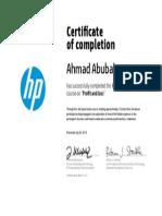 Certificate 125