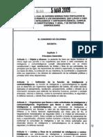 LEY1288 DE 2009 (INTELIGENCIA COLOMBIANA)