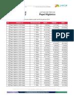 Superintendencia de Precios Justos - Listado de Precios - Papel Higiénico