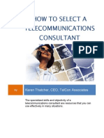 How to Select a Telecommunications Consultant