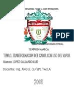 TRANSFORMACIÓN DEL CALOR CON USO DEL VAPOR