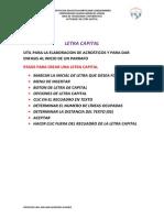 Letra Capital - Acrosticos