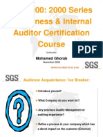 9001 Internal Auditor Course