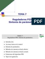 Tema 7.- Reguladores Pid Sintonia de Parametros