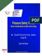 Pressure Relief Valve Force - Dynaflow