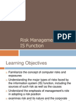 Risk Management of IS Function
