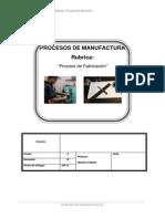 Proceso de Fabricacion (Informe)