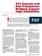 PCI Express and Non-transparent Bridging Support High Availability