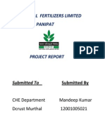 National Fertilizers Limited project report