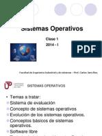 Semana1 Sistemas Operativos 2014 I
