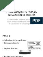 Procedimiento Para La Instalación de Tubería