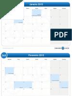 calendário mensal-2015