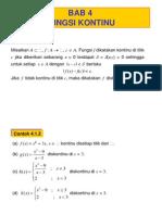 Analisis I fungsi-kontinu