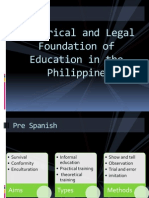 Legal Foundation of Education in the Philippines 120426001204