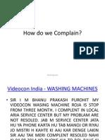 Consumer ComplaintsConsumer Complaints