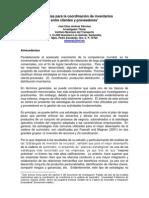 Estrategias de Coordinación Cliente-proveedor