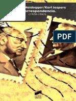 Correspondencia, Heidegger y Jaspers