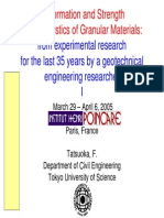 Deformation and Strength Characteristics of Granular Materials