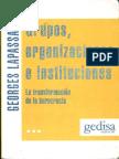 Lapassade, Georges - Grupos. Organizaciones e Instituciones