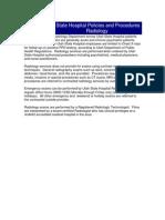 Utah State Hospital Policies and Procedures Radiology