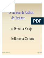 1-5 a) Divisores de Voltaje y b) Corriente